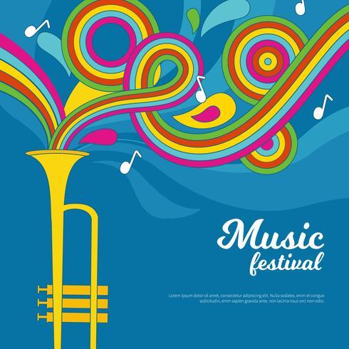 Musikfestival-Vektor vektor