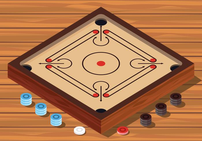 illustration vectorielle de carrom board