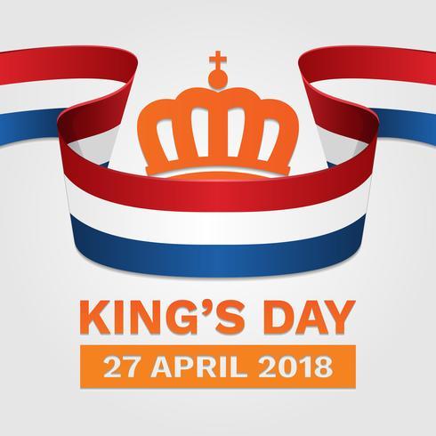 koningsdag nederland affiche illustration