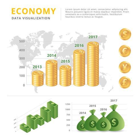 Wirtschaftsdatenvisualisierungs-Vektor