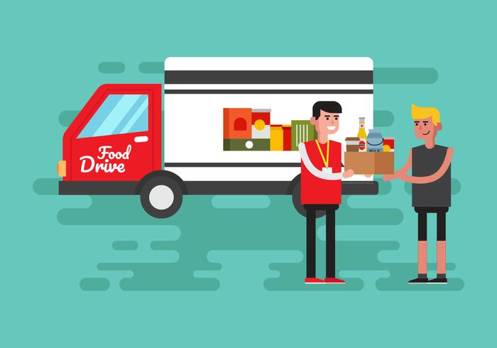 Illustration vectorielle de Food Drive