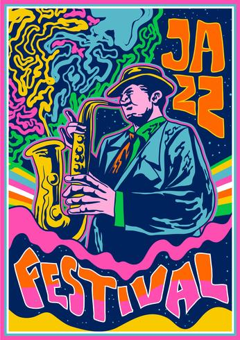 Psychedelic Concert Poster Jazz Music - Download Free