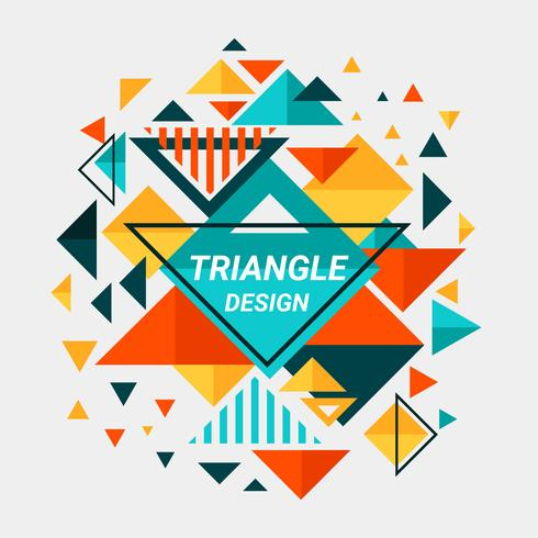 Color Full Abstract Triangle Design