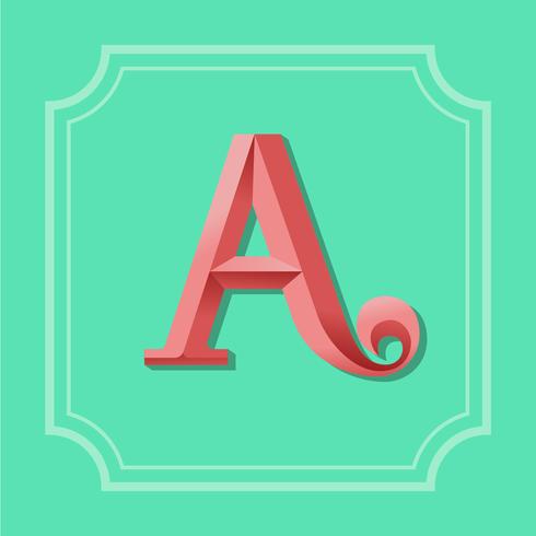 Buchstabe A Typografie