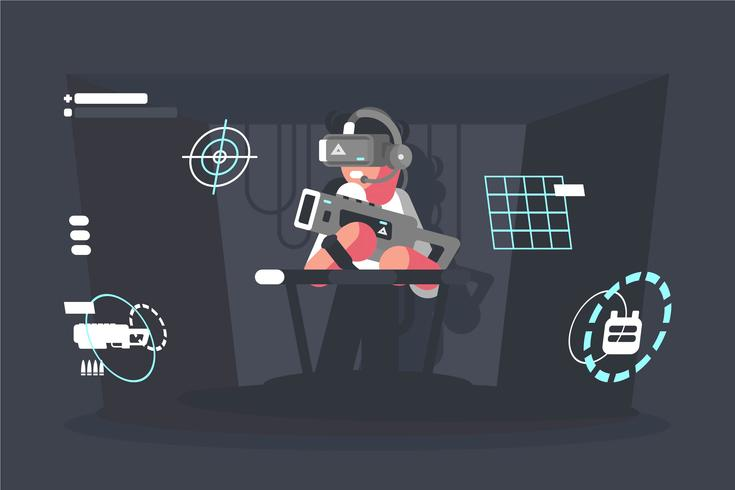 Virtual Reality Erfahrung Illustration vektor