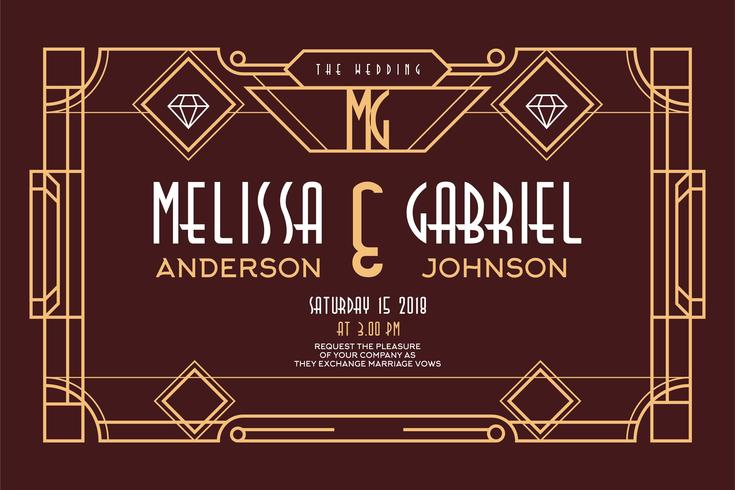 Art Deco bruiloft