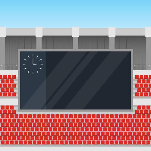 Jumbotron i hörnet av en utomhusstadion illustration