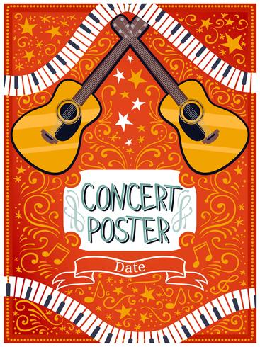 Konzert Poster Vektoren