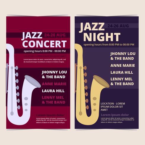 vector poster di concerti jazz