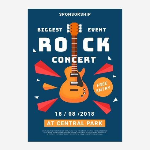 Concert Rock Poster Template vector