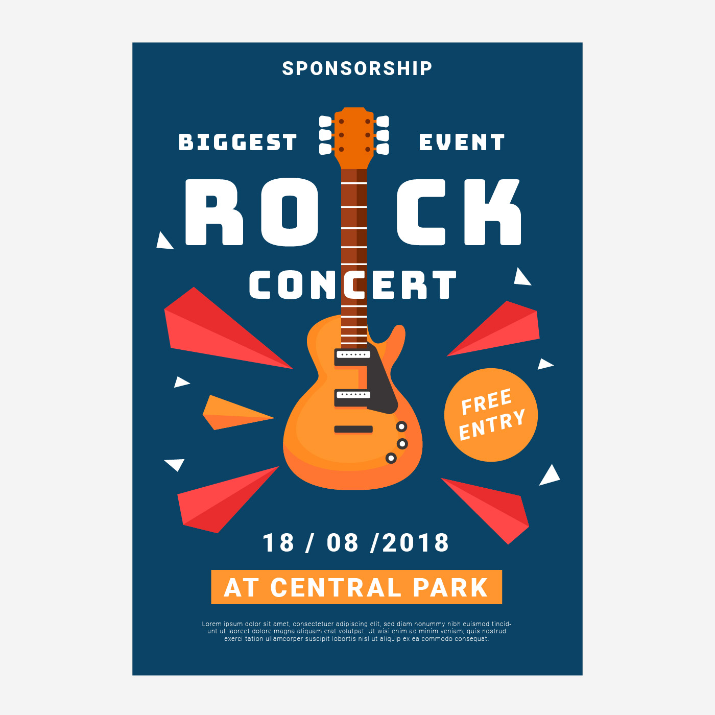 Concert Rock Poster Template - Download Free Vector Art ...