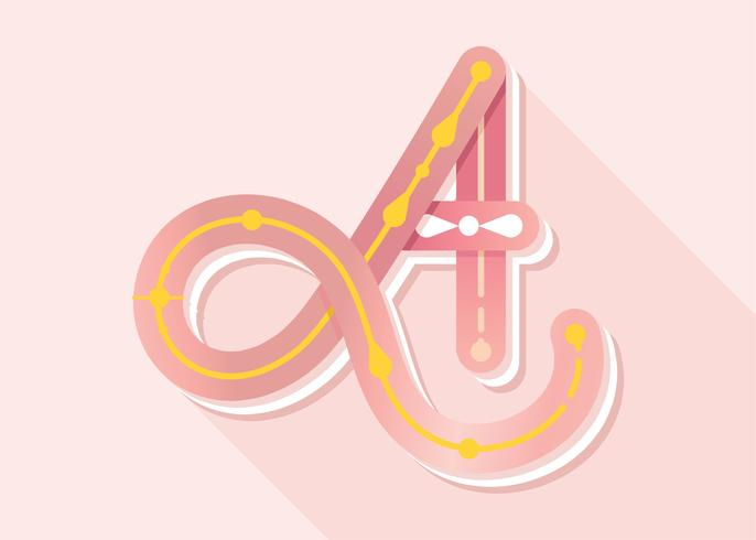 Letter A Typography Vector