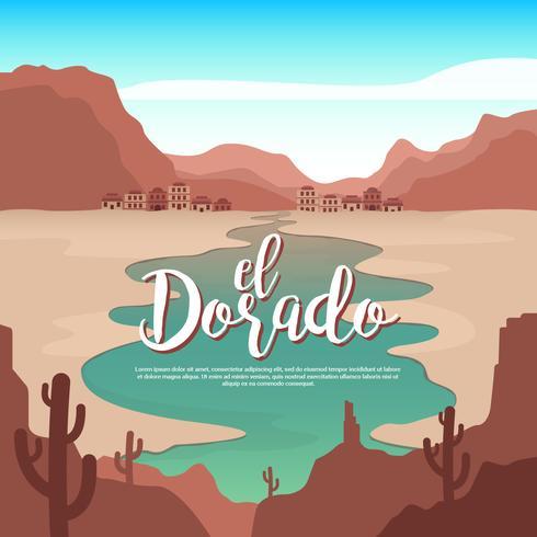 El Dorado Spring Valley Vector Illustration