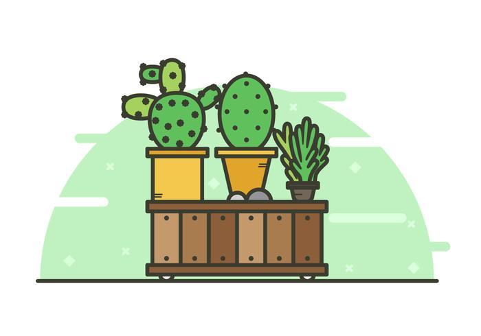 Sukkulenten-Hintergrund-Illustration vektor