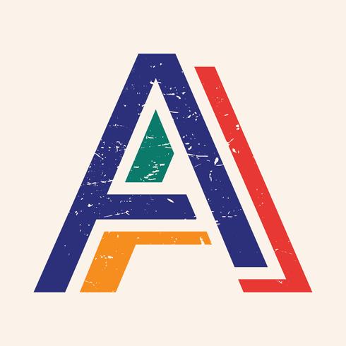 Letra tipografía A