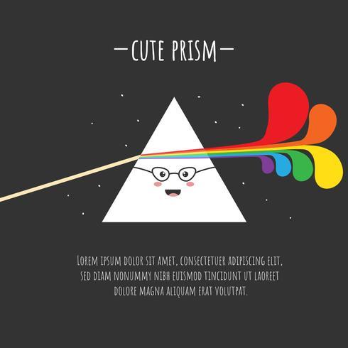 Cute Prism Vector
