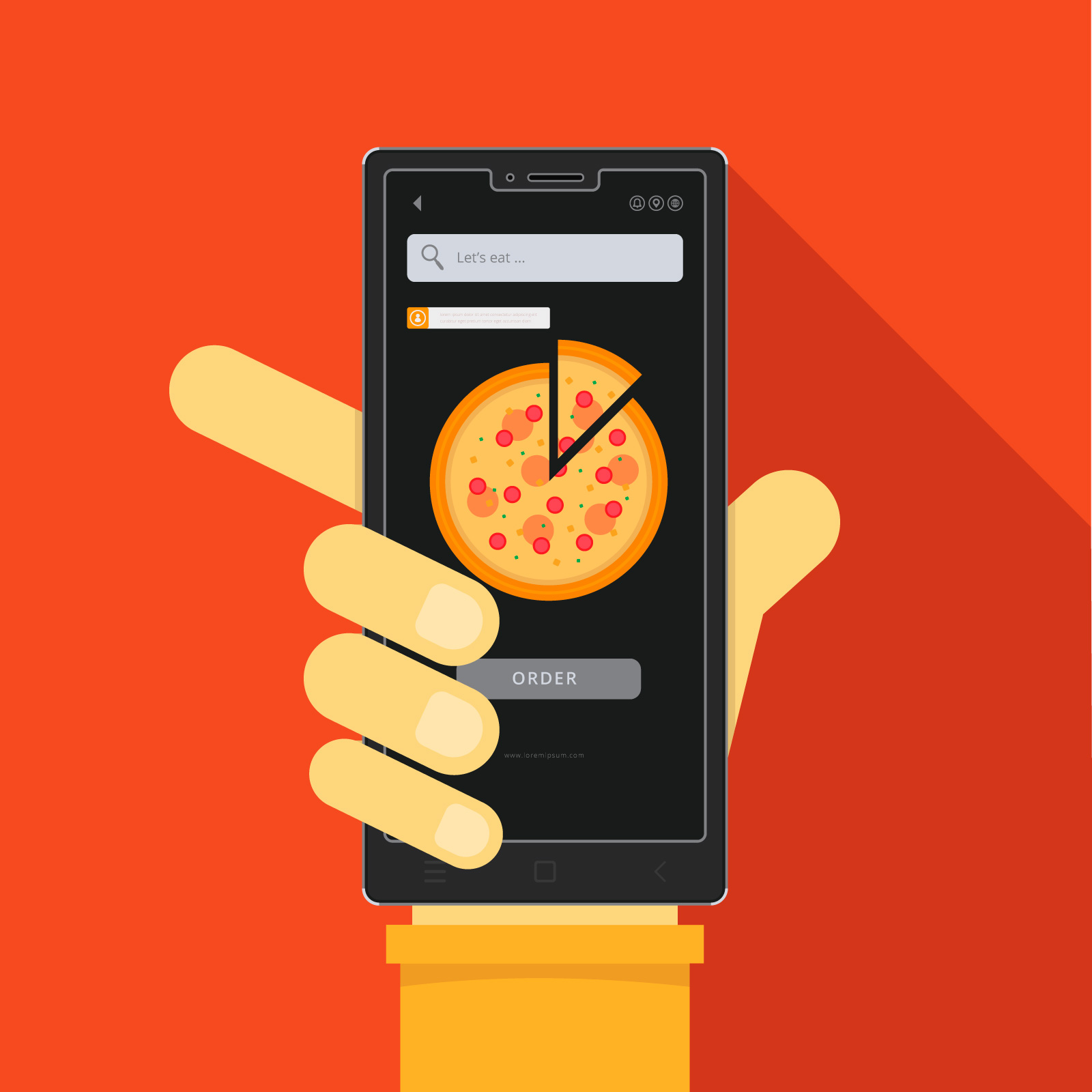 Food App Icon For Food Mobile Order Download Free Vector