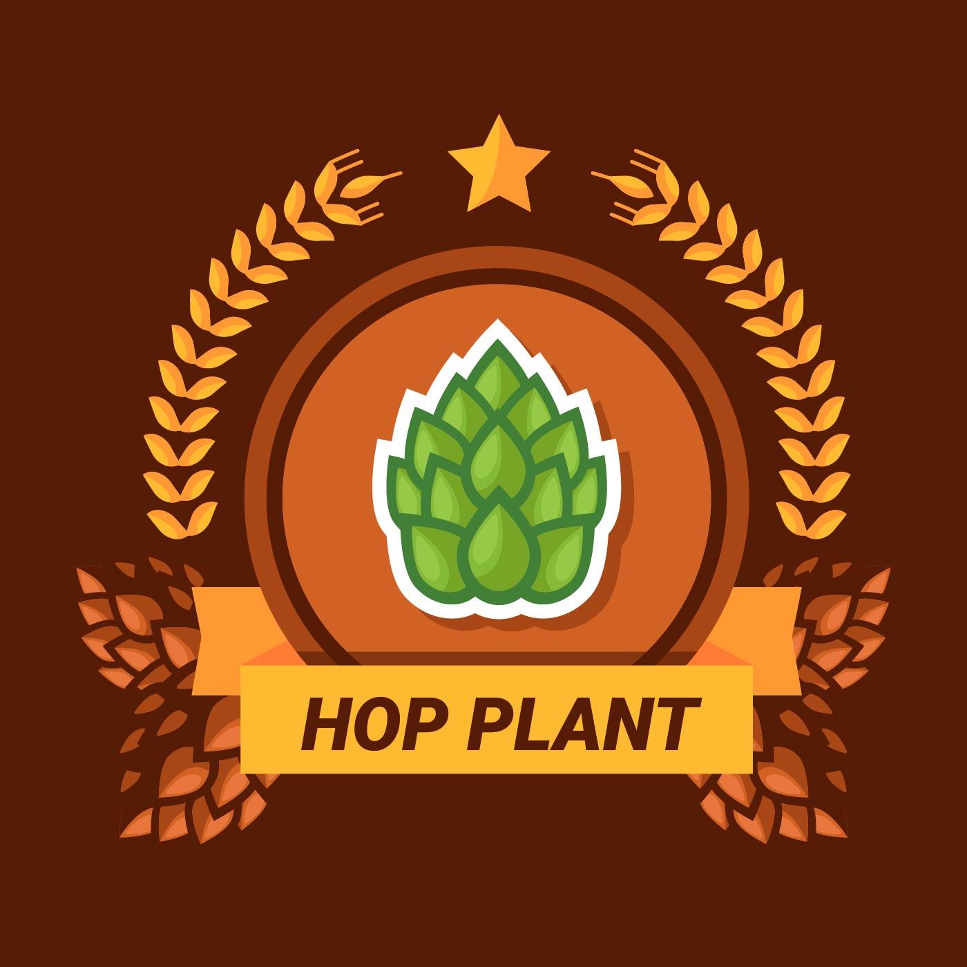 hop plant logo download free vector art stock graphics
