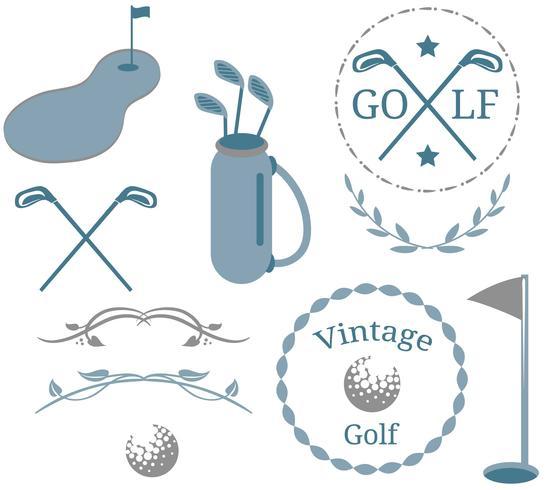 Vintage Golf 2 vecteurs