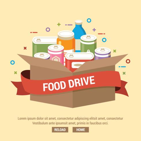 Food Drive Illustration