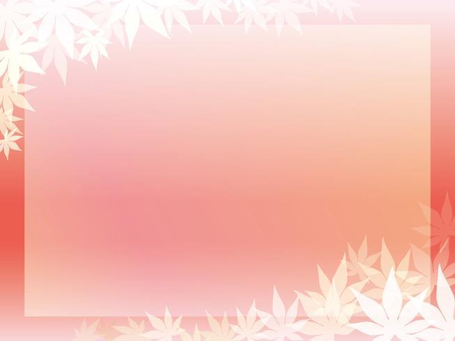 Ein goldener Ahornblattrahmen auf einem rötlichen Hintergrund.