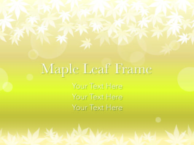 Seamless vector maple leaf frame on a gold/yellow background.
