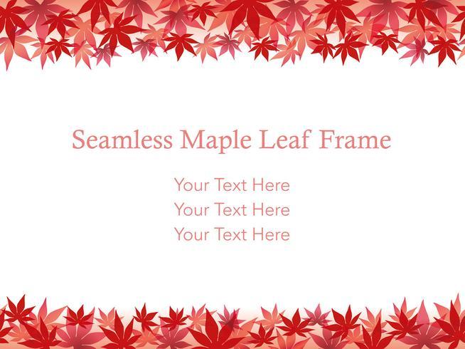Seamless maple leaf background/frame, vector illustration.