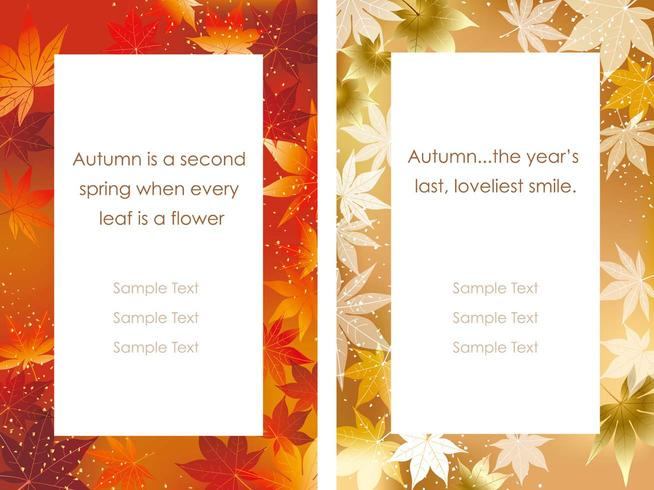 A set of two vector frames with autumn graphics.