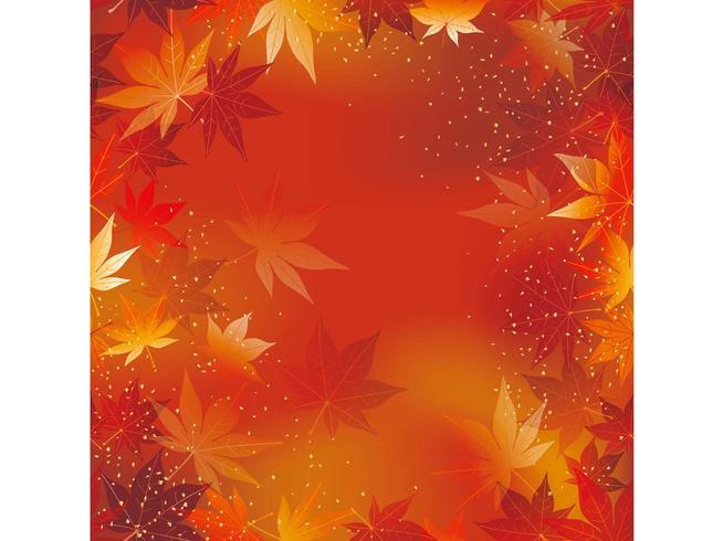 Une illustration de fond de vecteur automne sans soudure.