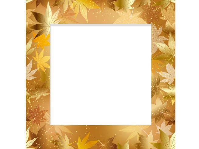 A seamless autumn frame.