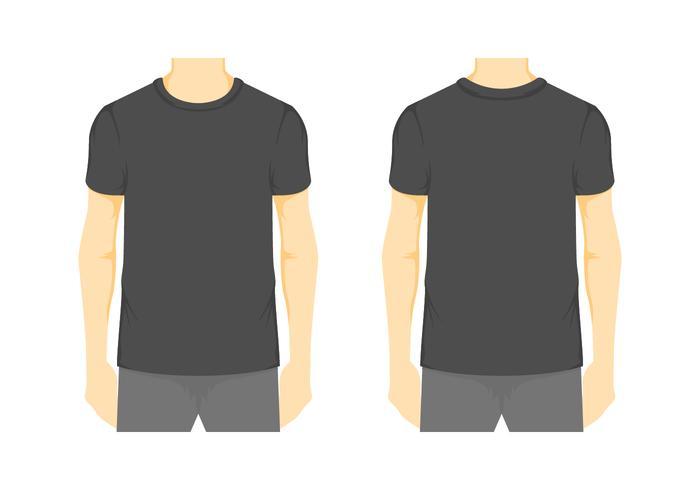 modèle de t-shirt blanc de vecteur 2