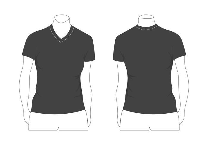 modèle de t-shirt femme vierge