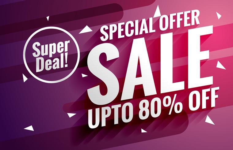 purple sale banner design template for business promotion