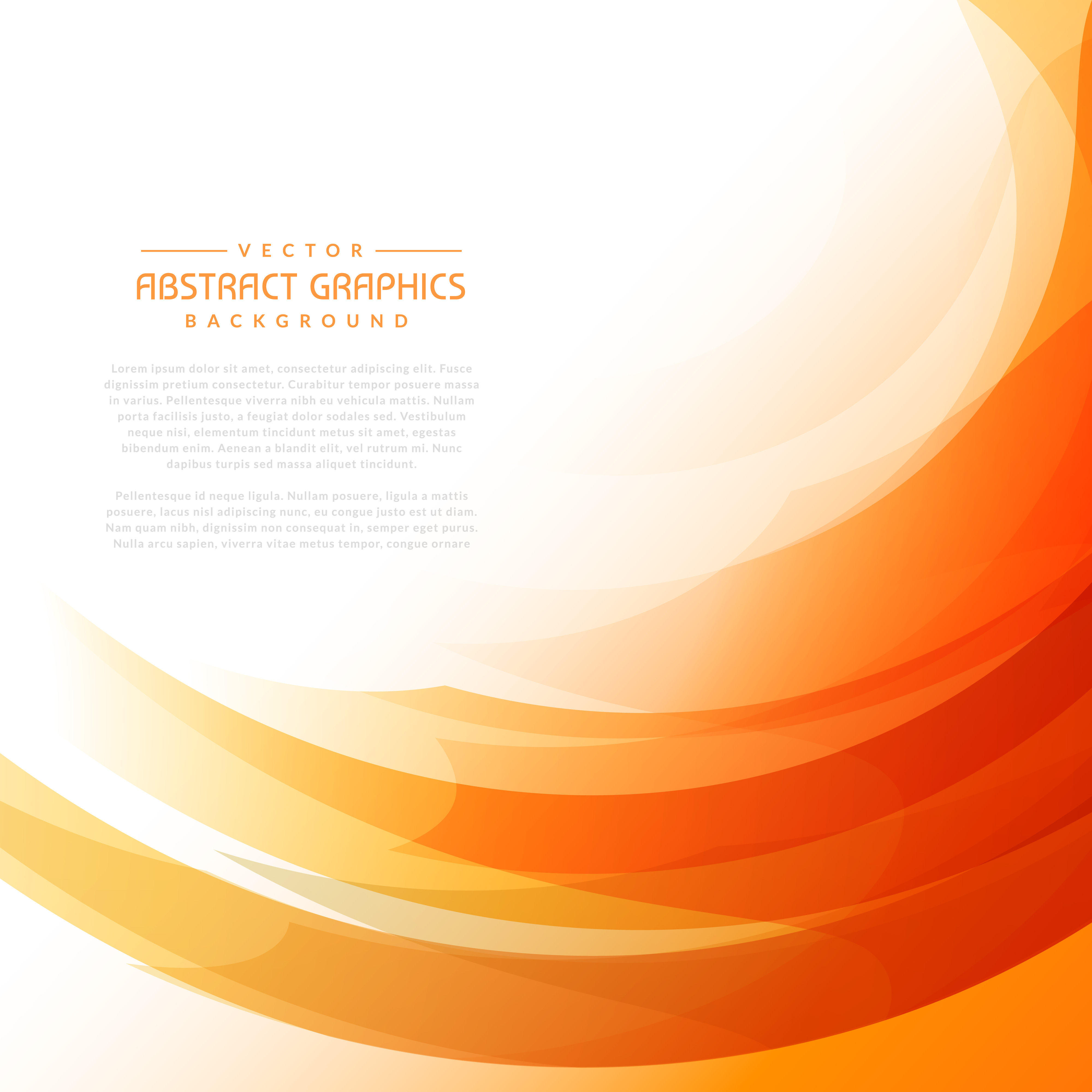Orange Wavy Background With Abstract Shapes