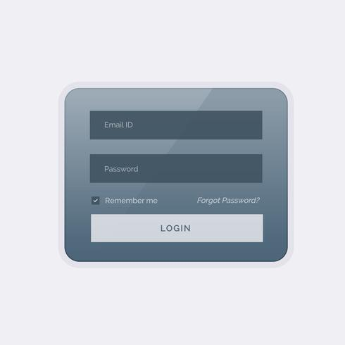 clean modern login form ui template design