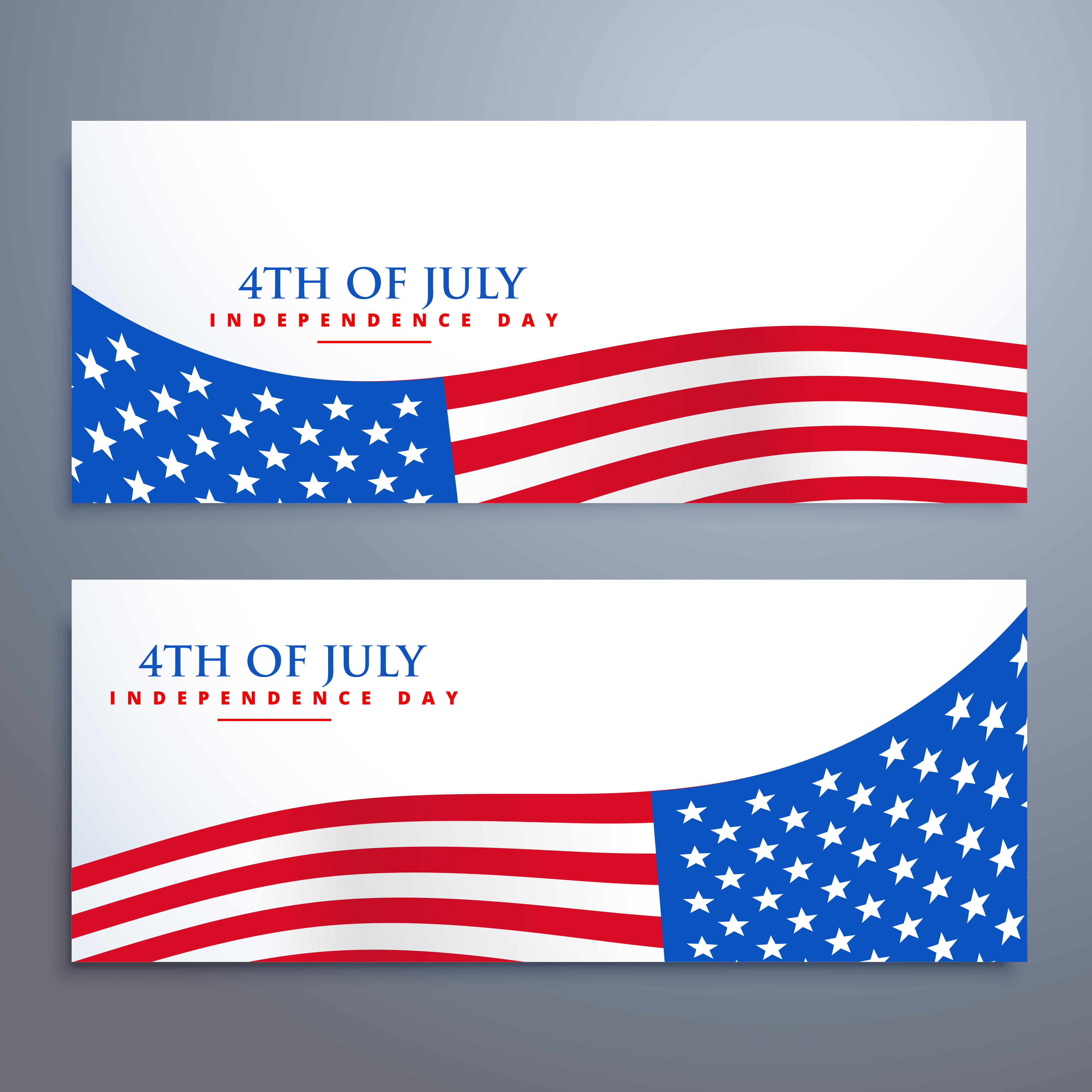 4th of july flag banners - Download Free Vector Art, Stock ...