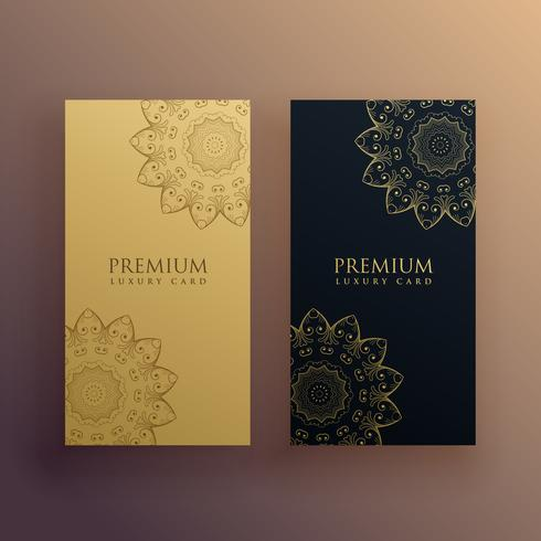 elegant set of mandala banner card