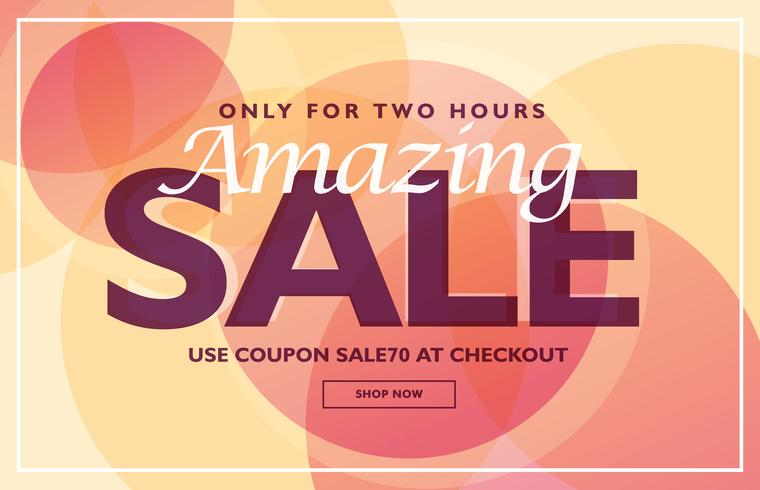 amazing sale banner template design with soft colors