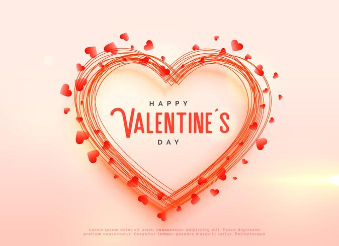 creative valentine's day hearts background design