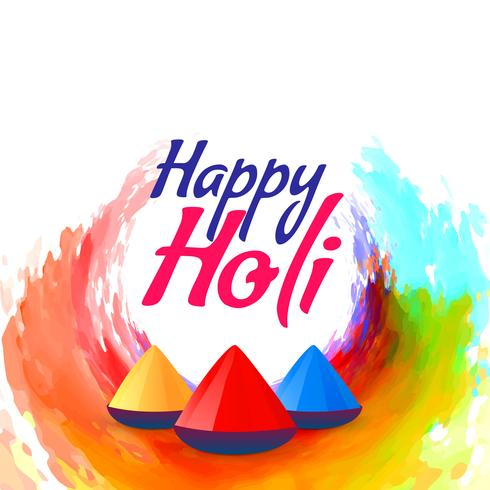 colorful holi festival background design