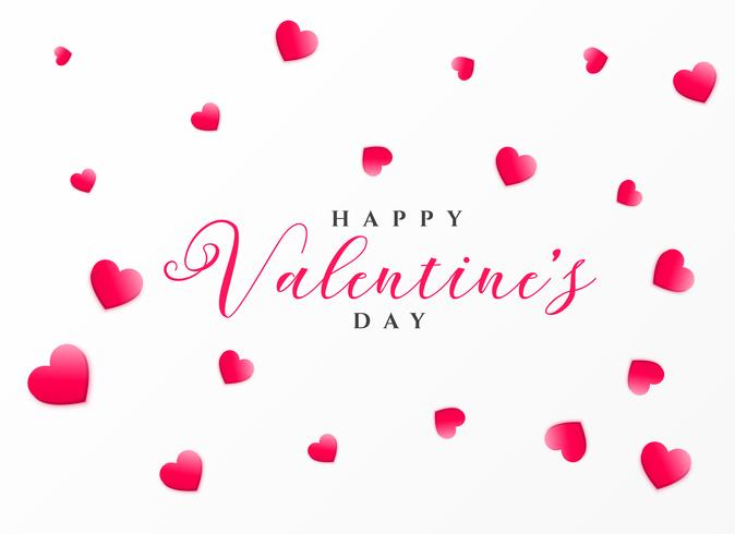 clean happy valentine's day greeting design