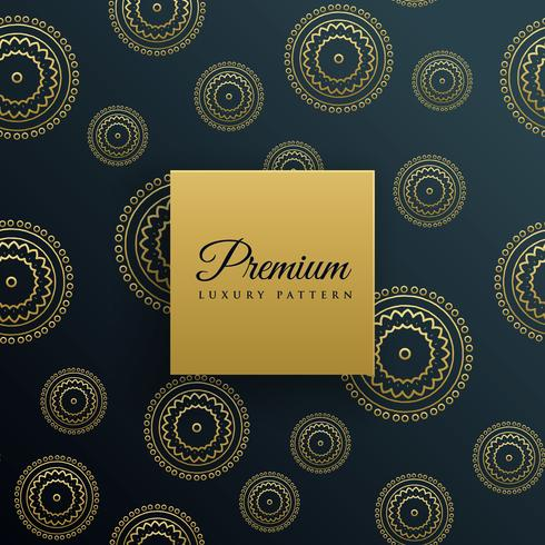luxury golden decorative pattern background