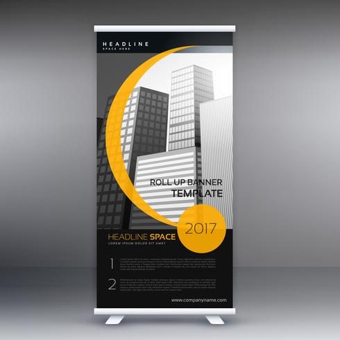black and yellow roll up banner for your compnay brand