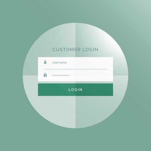 modern login form UI design