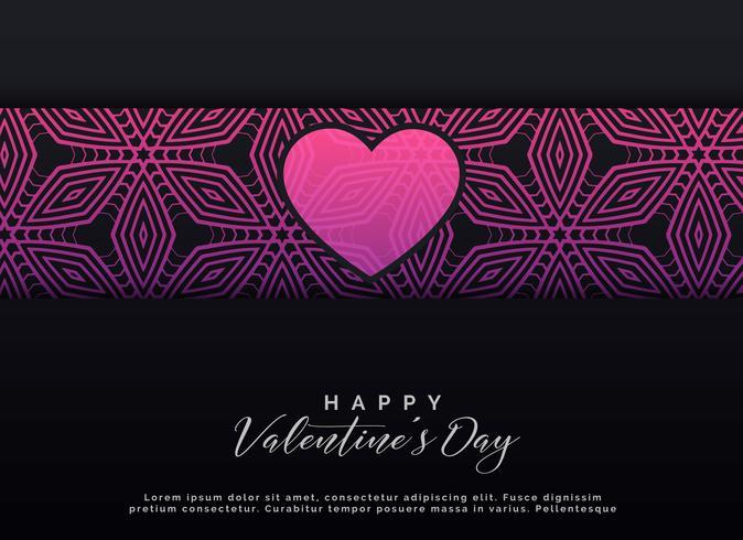 conception de fond sombre Saint Valentin