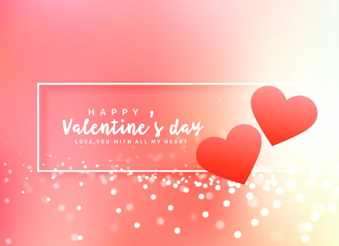 romantic valentine's day poster design background