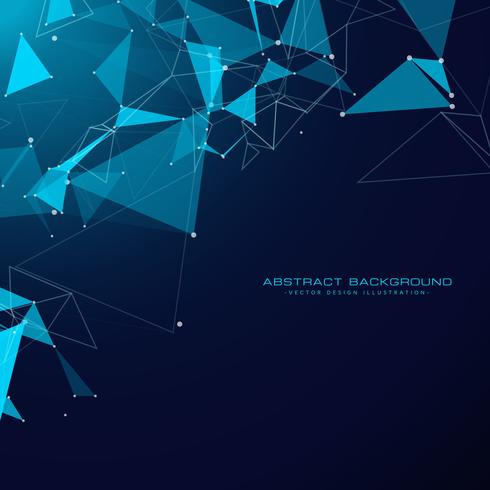 technology background with triangle shapes and wire mesh