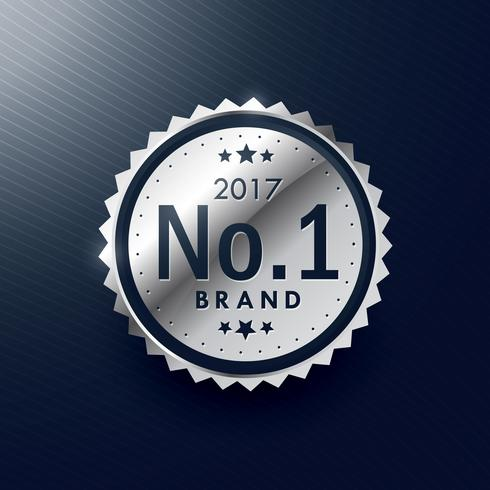 no.1 brand silver badge and label design