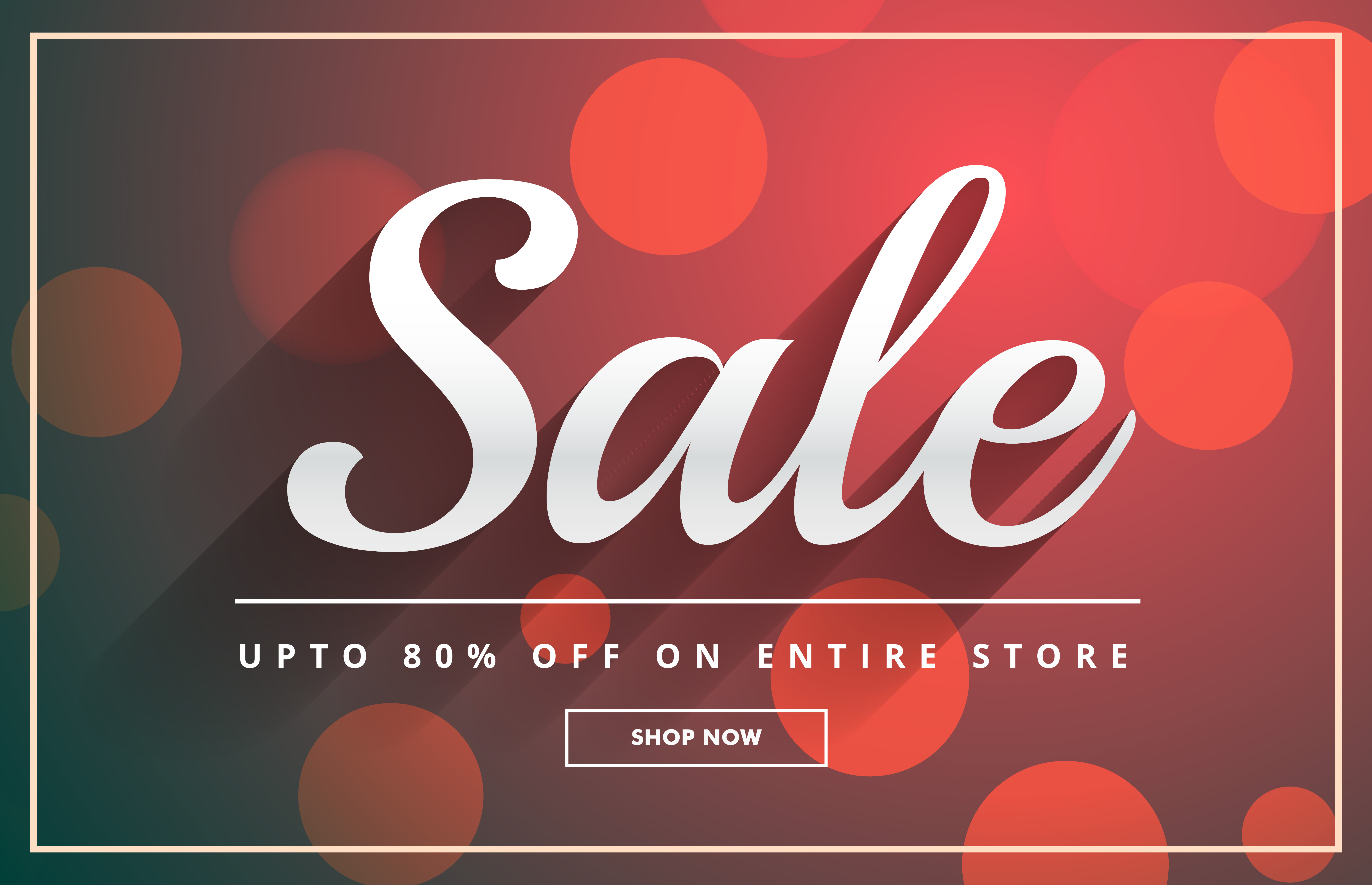 beautiful sale banner design template with bokeh