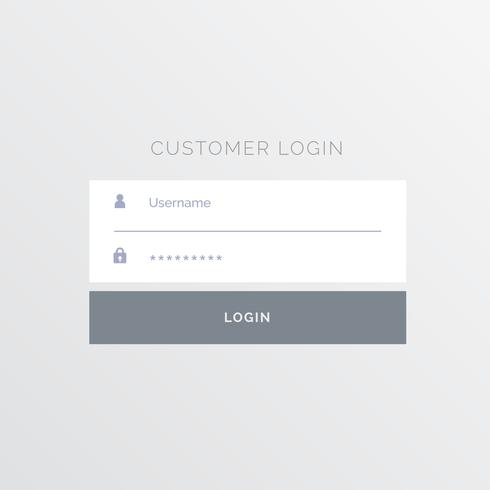 simple white login form template design